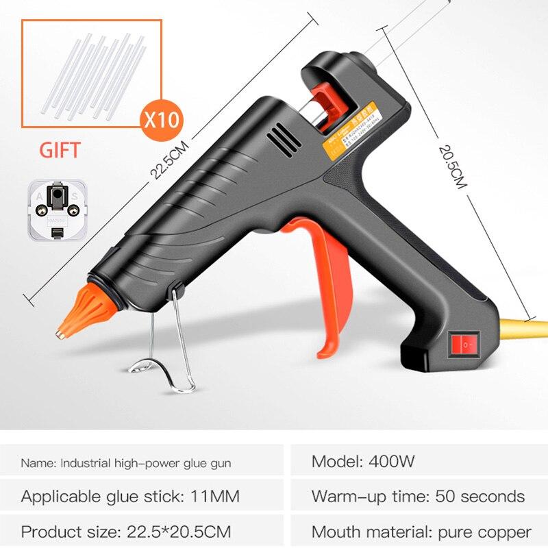 AIRAJ 400W Industrial Grade Hot Melt Glue Gun, Give 10 Glue Sticks for Household DIY Hand-made Adhesive Tools