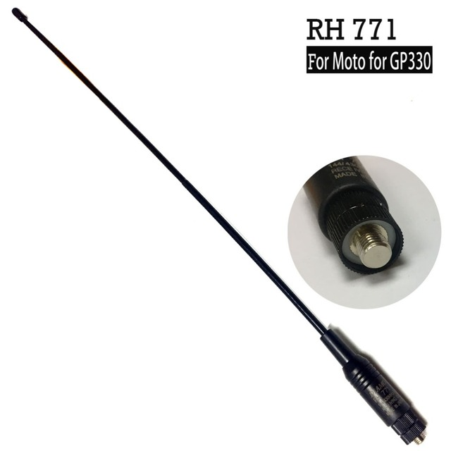 US $9 4 |YIDATON Long range Dual Band Antenna RH 771 for Antenna for  motorola for For GP88 GP88S GP338 GP338PLUS GP328 Radio -in Walkie Talkie  from