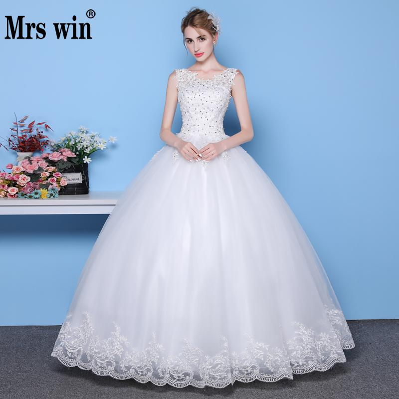 Jieruize White Simple Backless Wedding Dresses 2019 Ball: Mrs Win Simple Wedding Dresses Ball Gown 2018 Vestido