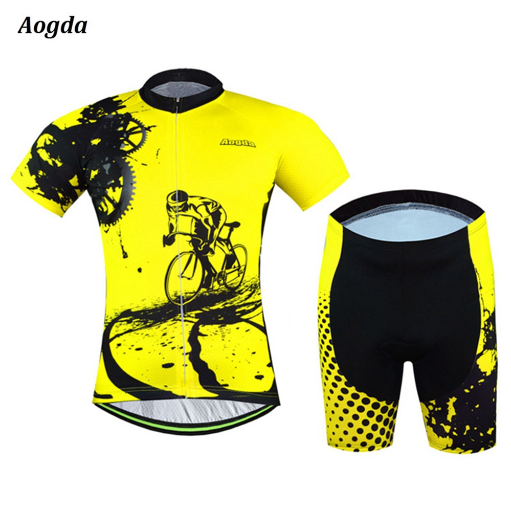 2016 New Arrival AOGDA Cycling Jersey Set Short Sleeve font b Bike b font Bicycle Sportswear