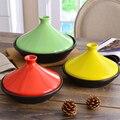 Cazuela poco profunda de tajina marroquí, olla de cerámica de hierro, olla de vapor, caldera resistente al calor, olla de sopa japonesa 20-30cm