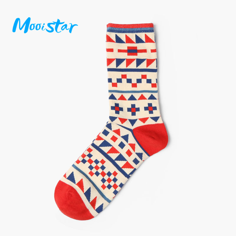 Mooistar #4022D Casual Cotton Socks Design Multi Color Fashion Dress Mens Womens Socks