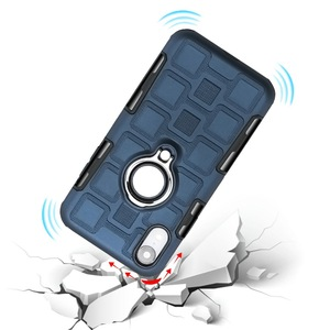 Image 2 - שריון טלפון מקרה עבור ארבע פינת הגנת מקרה עמיד הלם עבור iPhone XR XS מקסימום 6 7 8 בתוספת Kickstand TPU חזרה כיסוי Coque פגז