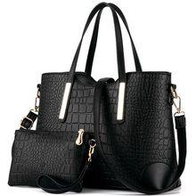 Nouveau 2017 femmes sacs à main en cuir sac à main crocodile sac bandoulière épaule messenger sacs d'embrayage fourre-tout + sac à main 2 ensembles sac QT-326
