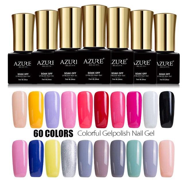 Azure azure beauty 7 мл гель-лак краска маникюр ногтей гелем польский soak off эмали светодиодных уф-лак гель azure ногтей гелем лак