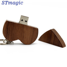 STmagic Wooden Heart Usb flash drive Memory Stick Pen Drive 8gb 16gb 32gb