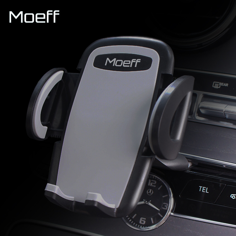 Moeff Universal Car Phone Holder CD Slot Stand Mount Mobile Support Cellular Phone Smartphone Holder In Car For Iphone5 7 8 Plus