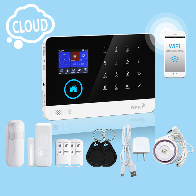Wireless Intruder Security GSM  Home Alarm System with APP control and alarm relay switch for house safety and burglar alarmWireless Intruder Security GSM  Home Alarm System with APP control and alarm relay switch for house safety and burglar alarm