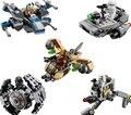 1 unids Nave Espacial de Star Wars Figura Bloques de Construcción Ladrillos juguetes Compatible Legoe Starwars Clone Wars troopers Naves Microfighters