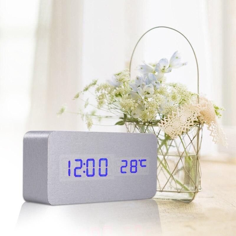 Aliexpress.com : Digitaluhr Sound Control Schreibtisch Tisch Nacht  DC5V/500MA Wecker Mit Usb Kabel Und Bedienungsanleitung Rot/grün/Weiß Von  Verlässlichen ...