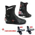 Pro-biker botas de moto de los hombres bota motocross botas moto lanchas zapatos moto racing botas de velocidad de carrera de bicicletas