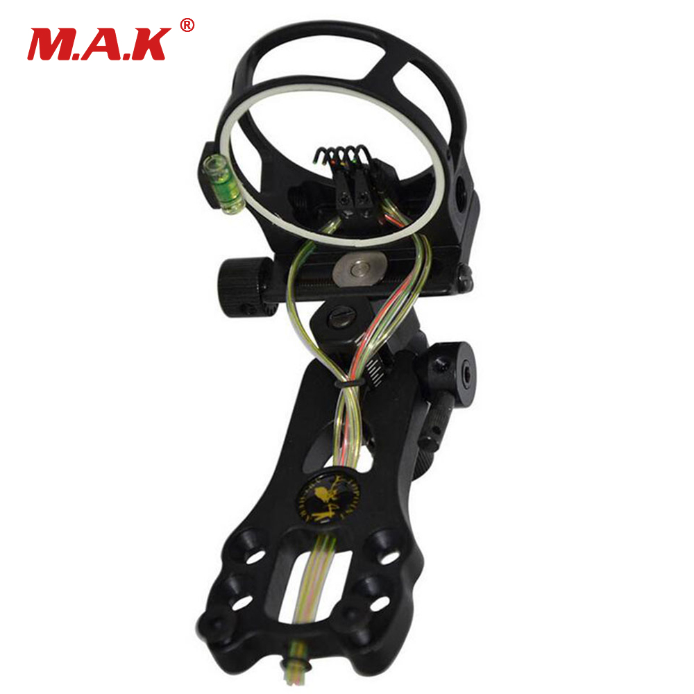 Archery Compound Bow Sight Bow Sight with Peephole and Light 0.019