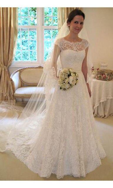 Vestidos de novia color blanco marfil