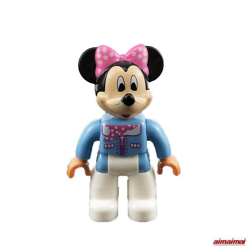 Duplo בת אדם סופר איש מיקי עכבר ים חדרניות דמויות בלוקים ילדי יום הולדת חג המולד מתנות צעצועי Duplo Lockings באטמן