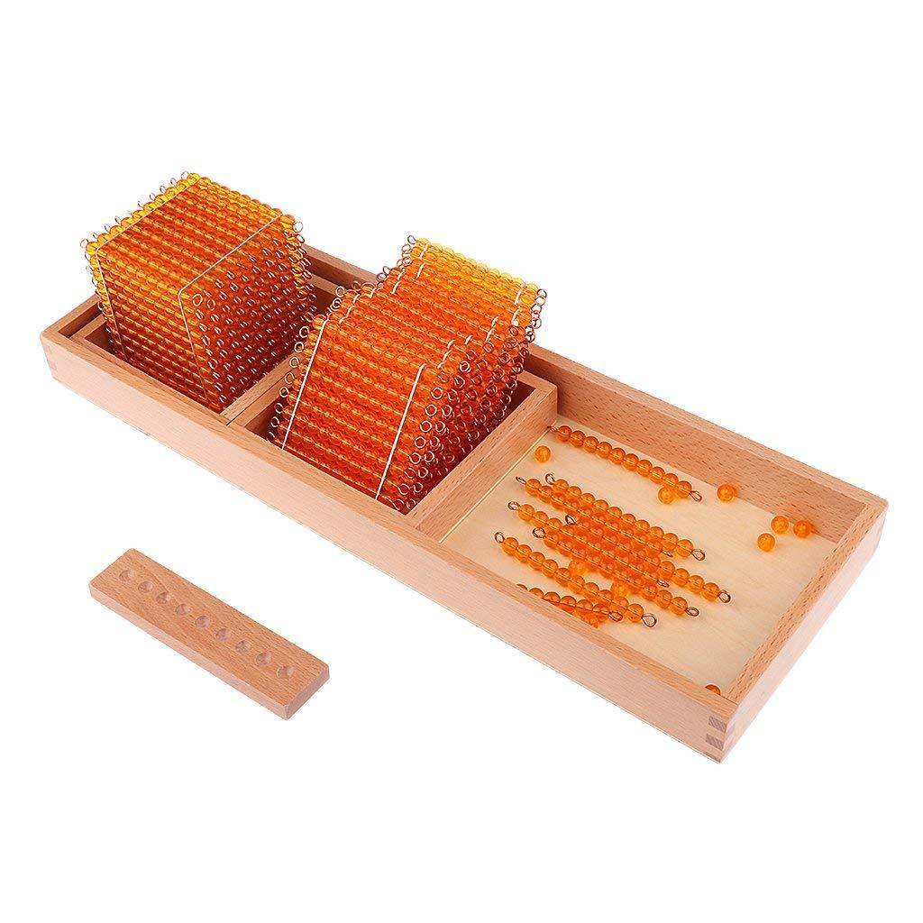 1 jeu éducatif pour enfants Montessori mathématiques jouets d'apprentissage décimaux-mille cent dix perles - 3