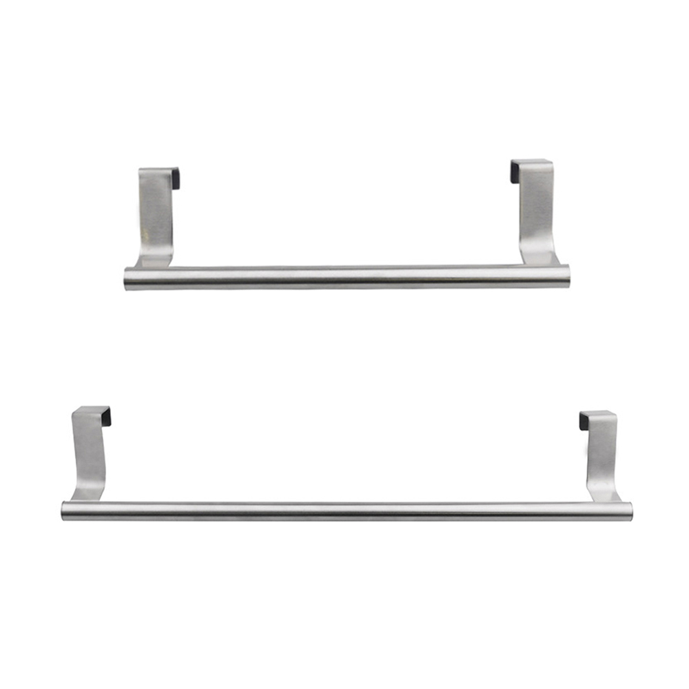 Home Kitchen Hanging Accessories Stainless Steel Wall-Mounted Towel Racks Pole Bathroom Towel Holder Household