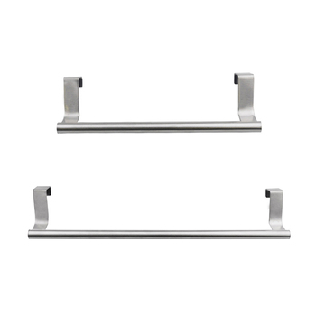 Home Kitchen Hanging Accessories Stainless Steel Wall-Mounted Towel Racks Pole Bathroom Towel Holder Household ofyage wall mounted 304 stainless steel brushed double towel bars towel racks towel holder bathroom products for home