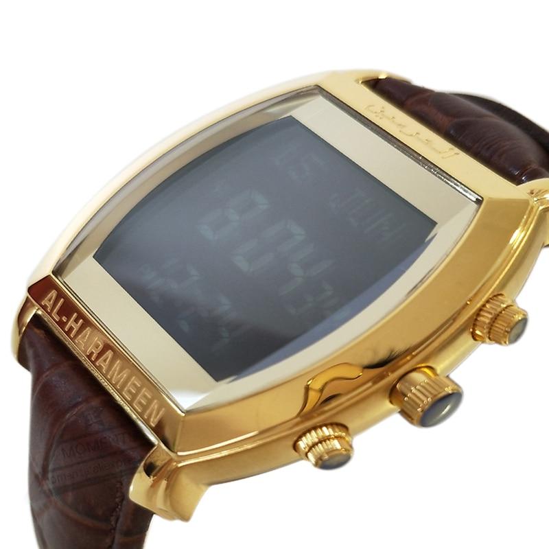 Men's Watches Digital Watches Muslim Qibla Watch With Azan Time And Hijri Alfajr Watch 6260 Azan Watch With Prayer Alarm Tonneau Watch For Muslim