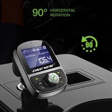 ONEVER Car MP3 odtwarzacz samochodowy z nadajnikiem FM MP3 odtwarzacz 3 1A USB Bluetooth 4 1 samochodów MP3 zestaw wsparcie karty TF U dysk S AUX się tanie tanio DCA487621 Dotykowy Tone 6 3*4 2*8 4cm 1 4 cali Samochód MP3 109dB 10 godzin Zasilanie zewnętrzne Pamięci Flash DZC784563