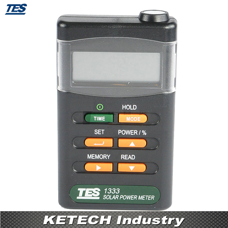 Solar Power Meters Digital Radiation Detector Solar Cell Energy Tester TES-1333 digital solar power meter radiation energy cell 1999 w m2 634 btu ft2 h range made in taiwan tester