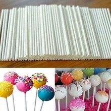 100 шт поп присоски палочки шоколадный торт леденец форма для изготовления конфет белый