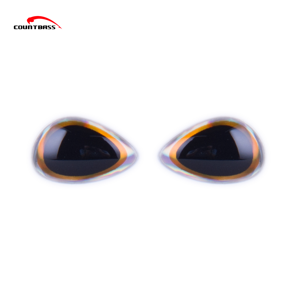 Special 3D Holographic Fishing Lure Eyes,Gold Rims 3D Fishing Lure Eyes