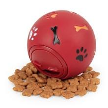 цена Dog Toy Rubber Ball Chew Dispenser Leakage Food Play Ball Interactive Pet Dental Teething Training Toy Blue Red 7cm 11cm XWEB онлайн в 2017 году