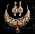 Conjuntos de jóias de casamento Venda Quente Champagne Strass Índia Estilo de Noiva brincos de cristal colar de Declaração de Jantar acessórios