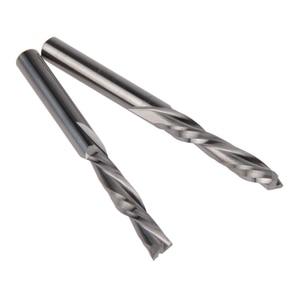 Image 2 - 5 pcs 3.175mm X 17mm thuận tay trái 2 bit sáo xoắn ốc, Xuống Cut carbide endmill, thuận Tay trái xoắn ốc cắt
