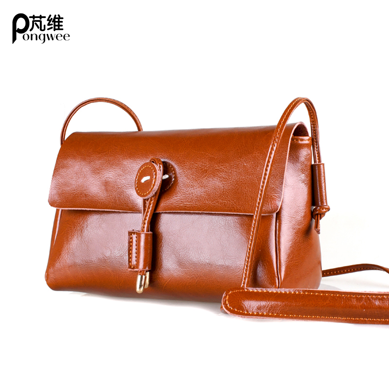 PONGWEE Nature Skin Women Bags Vintage Designer Cow Leather Women Messenger Bags  Best Gifts Luxury Genuine Leather Handbags 91ae4f3923bd2