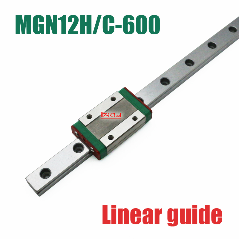 CNC part 12mm linear rail guide MGN12 length 600mm with mini MGN12H / C linear block carriage miniature linear motion guide way cnc part mr7 7mm linear rail guide mgn7 length 600mm with mini mgn7c linear block carriage miniature linear motion guide way