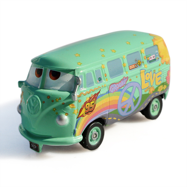 Disney Pixar Cars Diecast Fillmore Metal Toy Car For Children 1 55     Disney Pixar Cars Diecast Fillmore Metal Toy Car For Children 1 55 Loose  Brand New