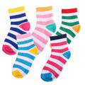 5 Color Todller Socks Kids Tripped Socks For Boys & Girls 2016 Spring AutUmn 5 Pairs/ Lot