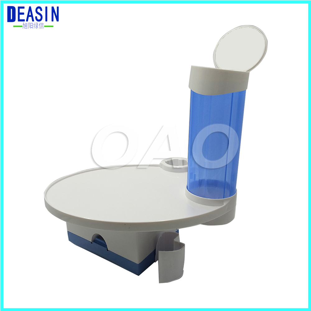 2018 DEASIN Dental tray box 3-in-1 for Dental Chair Accessory Dental Cup Storage Holder dental paper tissue hot sale dental 80 holder tray for implant drill bur organizer holder box tray