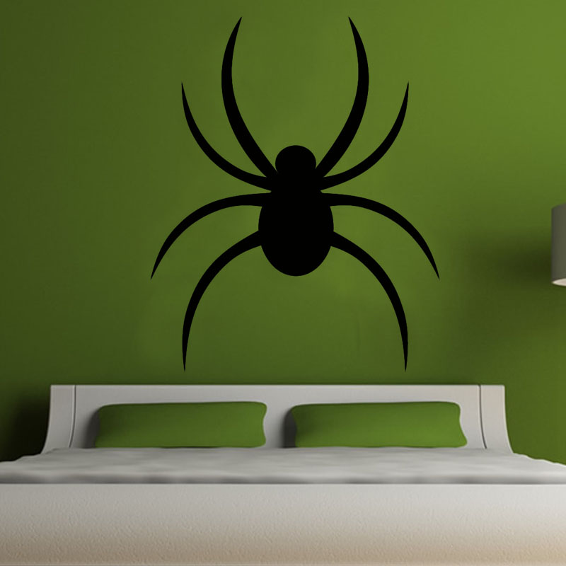 Creative Cartoon Black Spider Wall