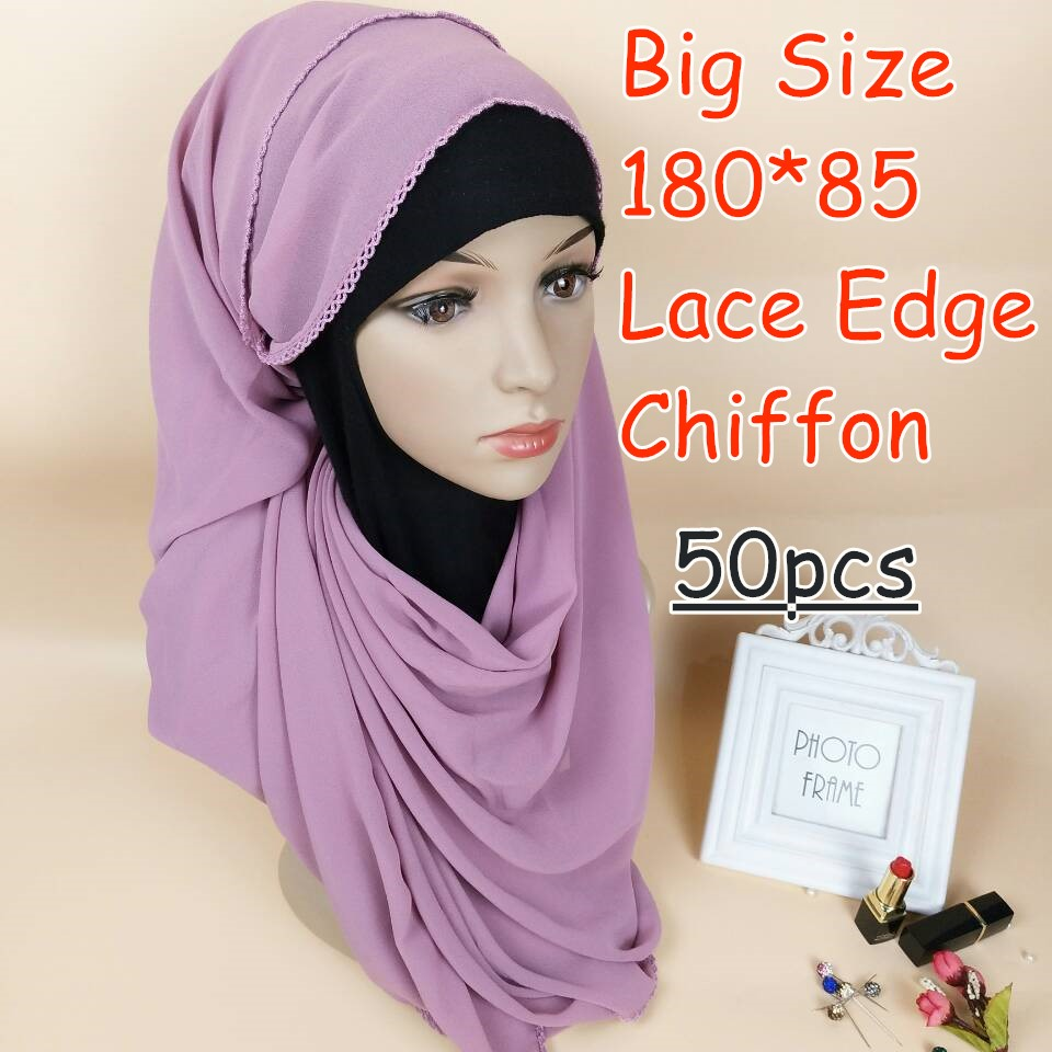 Z1 High quality big size bubble chiffon lace chiffon hijab 180*85cm women   scarf     scarves     wrap   shawls 50pcs/lot