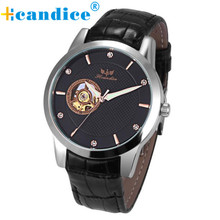 Hot Supper Fun High Quality relogio masculino 1PC Men's Fashion Leather Band Mechanical Watch Wrist Watch feb27