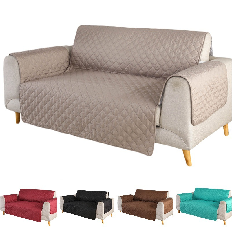US $18.55 25% OFF|Reversible Quilted Sofa Covers For Dogs Pets Kids Anti Slip Couch Recliner Slipcovers Armchair Furniture Protector 123 Seater|Sofa