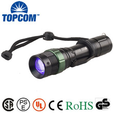 [Free Ship] led uv flashlight UV Waterproof High Power 390nm-395nm Ultraviolet Lamp Purple light Torch