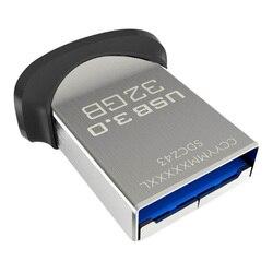 SanDisk USB 3.0 Flash Drive 128GB 64GB 32GB Memory Stick Pen Drive Flashdisk Flashdisk 130 MB/Detik Ultra fit Mini Nano Disk U untuk PC
