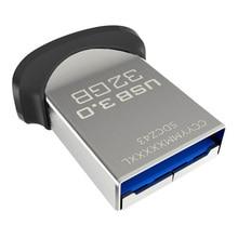 Двойной Флеш-накопитель SanDisk флеш-накопитель USB 3,0 128 64Гб 32Гб флеш-накопитель флеш-накопителей и флеш-накопитель флэш-диск 130 МБ/с. Ultra Fit Mini Nano U диск для ПК