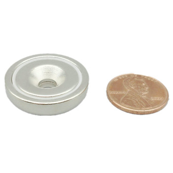 24pcs 8.3kg Pulling Pot Magnet Diameter 25mm M5 Countersunk Hole D25 Mounting Magnetic Strong Magnet Neodymium Permanent Magnets