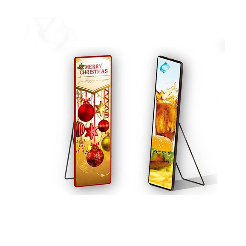 P3 Indoor 1920x576mm LED Advertising Posters Screen, Led Wall Player, Vertical Advertising Machine, Mirror Led Display