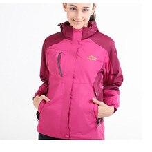 2017 New Men Women Outdoor Winter Hiking Climbing Outdoor 3 In 1 Windproof Jacket Male Thermal Skiing Coat Sports Warm Outwear