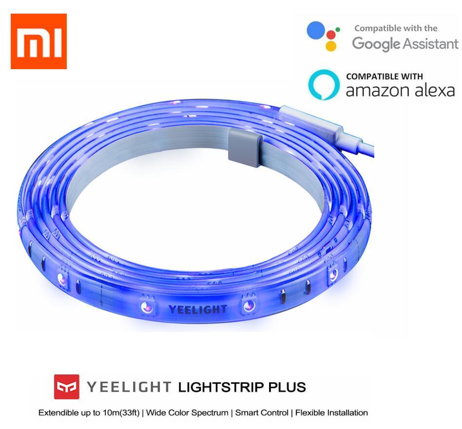 Xiaomi mi jia yeelight bande de lumière plus bande de lumière LED extensible jusqu'à 10m smart pour mi home yeelight App Wifi
