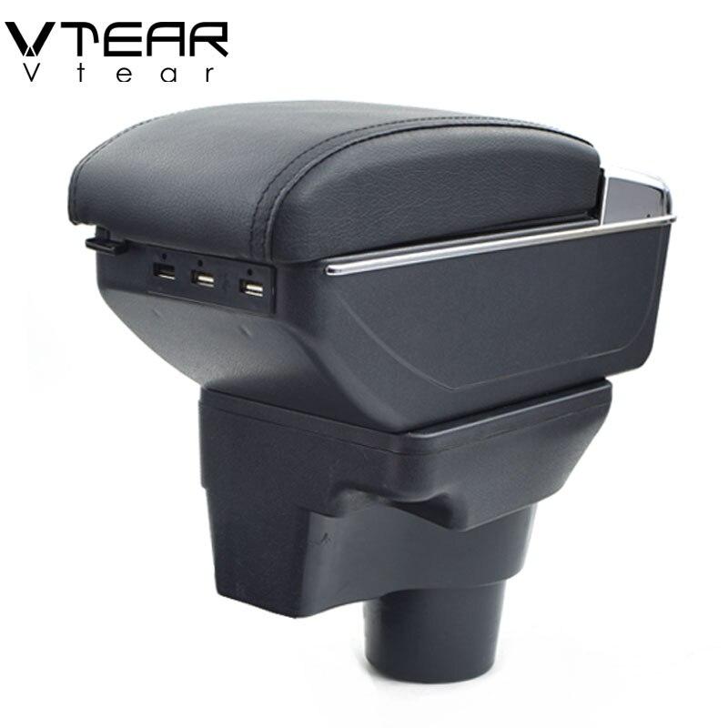 Vtear For 2017 KIA Rio 4 Rio X line armrest box USB Charging interface central Store