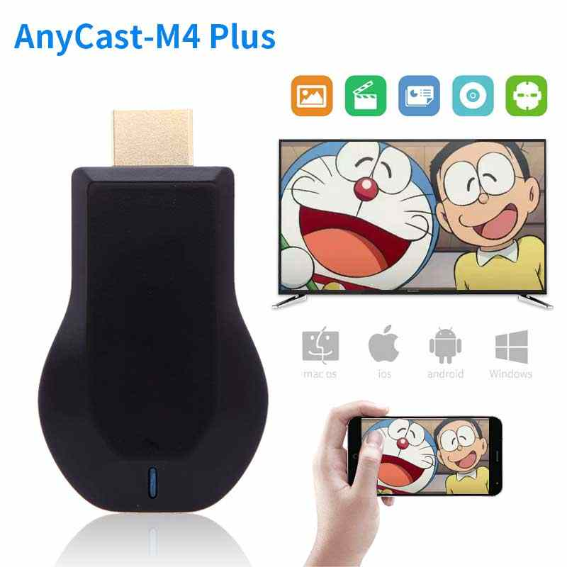 Anycast M4 plus HDMI Media Video Streamer Wi-Fi wyświetlacz Dongle 1080P Mini PC android tv stick Adapter do smartfonów Tablet PC