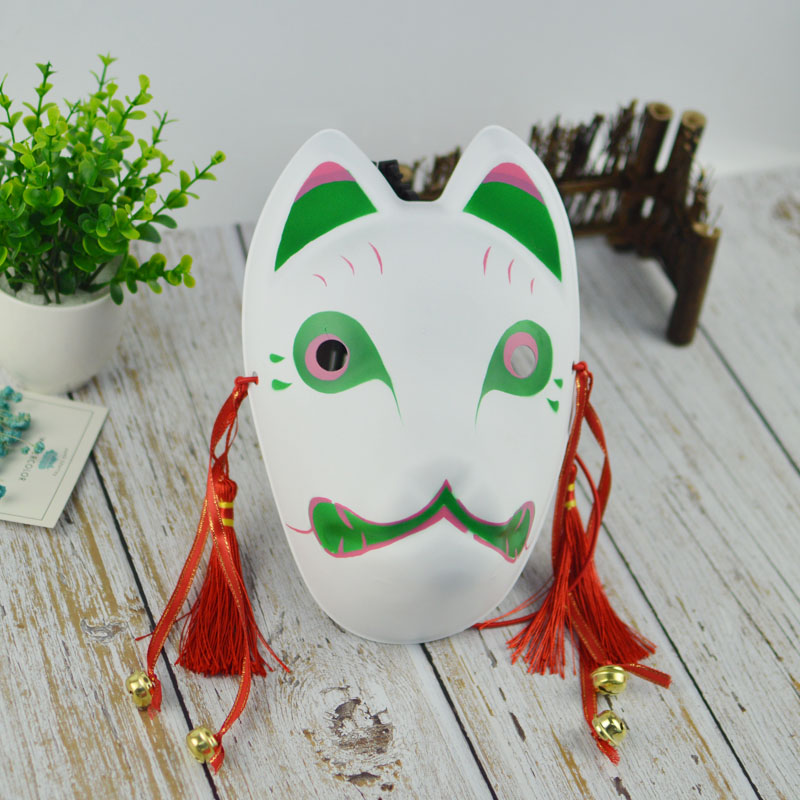 US $6 8  Halloween DIY MASK Japanese Private custom wind fox mask painted  cat Natsume's Book of Friends pulp fox full face mask cosplay-in Party  Masks