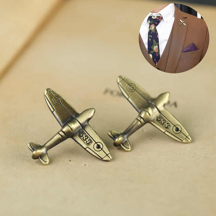 i-Remiel Mens Retro Aircraft Brooch Pin Buttons Women's Sweater Suit Shirt Collar Pins and Brooches Mens Clothing & Accessories