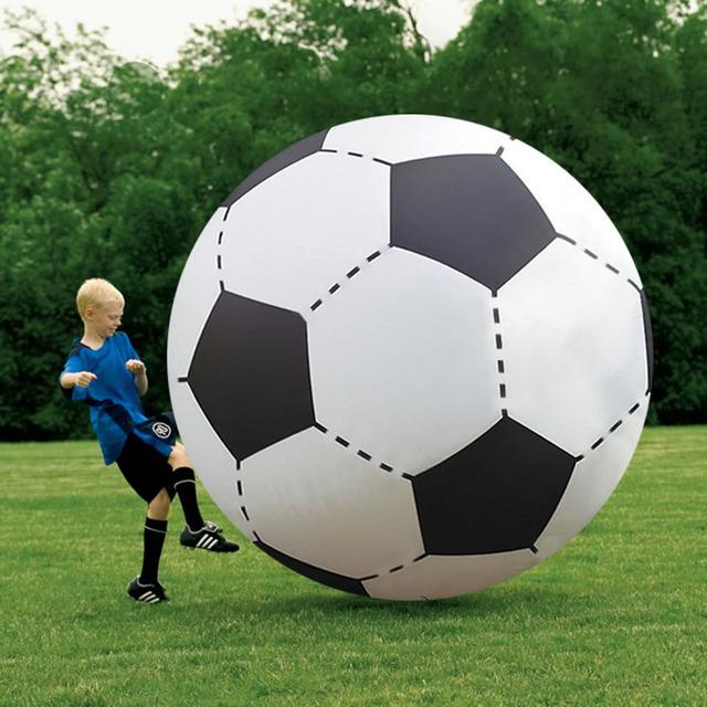 Bola de futebol inflável gigante toys 130 cm bola de praia inflado outbdoor esporte divertido toys crianças brincam adereços jogo piscina de água float